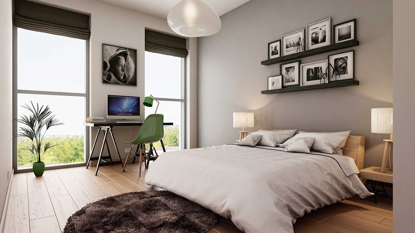 One-Bed-Apartment-3D Image