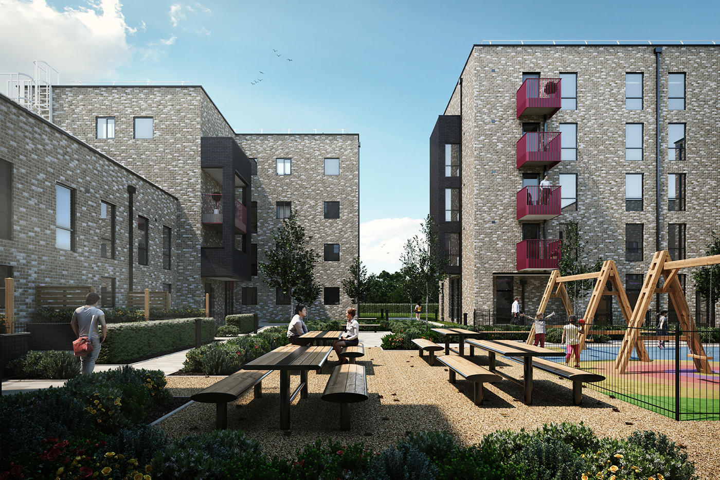CGI of Apartment block for property marketing